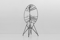 LELLO//ARNELL: <em>Stockholm Syndrome</em><br/>2012, Varnished steel and chair base<br/>Private collection, Brussels