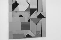 LELLO//ARNELL: <em>Apophenia (Grey)</em> | 2014 | Tinted mirror, oak, Valchromat | 160cm x 120cm