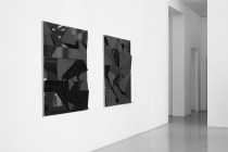 LELLO//ARNELL: <em>Apophenia (Black)</em> | 2014 | Lacobel, oak, Valchromat | 130cm x 90cm