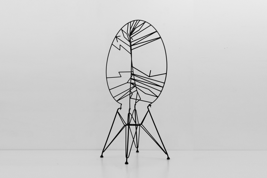 LELLO//ARNELL: <em>Stockholm Syndrome </em>| 2012 | Varnished steel and chair-base <br/>Private collection, Brussels