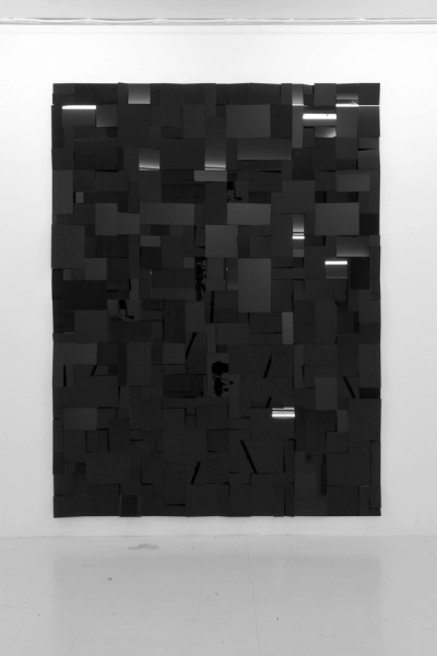 LELLO//ARNELL: <em>Premonition</em> | 2011 | Black glass, MDF | 200cm x 150cm