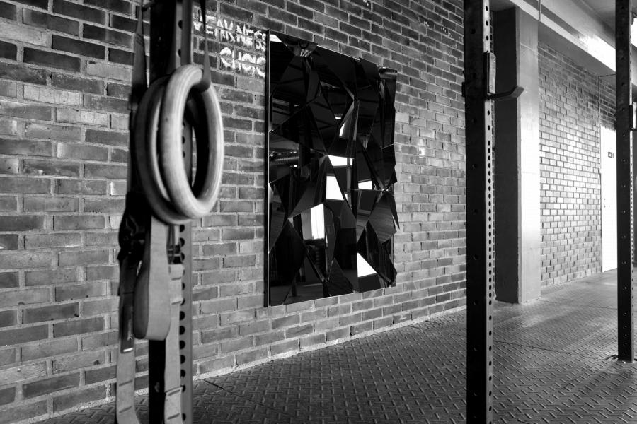 LELLO//ARNELL: <em>Apophenia (Black)</em> | 2015 | Lacobel, oak, Valchromat | 160cm x 120cm