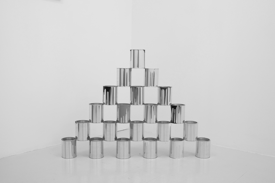 LELLO//ARNELL: <em>Pyramid</em> | 2013 | Acrylic on paint tins | 80cm x 110cm x 11cm
