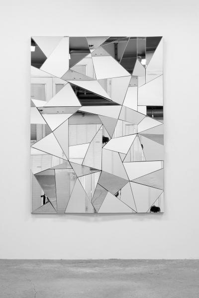 LELLO//ARNELL: <em>Apophenia</em>   2015   Mirror, oak, Valchromat   160cm x 120cm