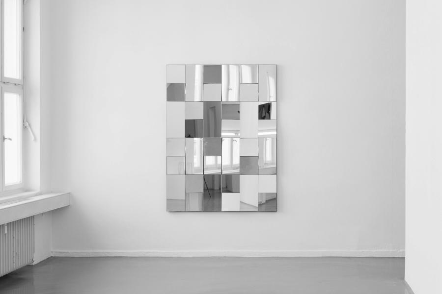 LELLO//ARNELL: <em>Apophenia</em> | 2014 | Mirror, oak, Valchromat | 160cm x 120cm