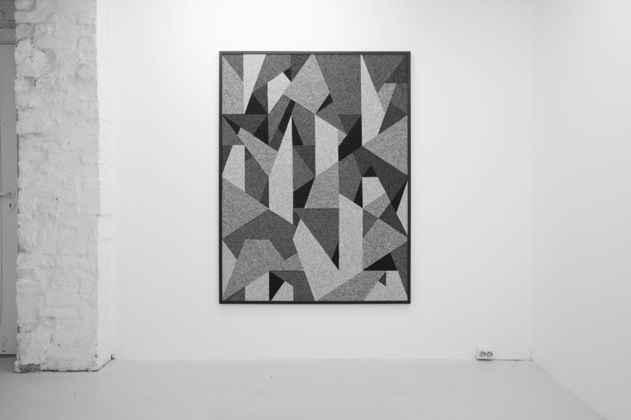 LELLO//ARNELL: <em>Original Report of the Okamura Fossil Laboratory</em><br/>2013 | Carpet on MDF, framed | 160cm x 120cm