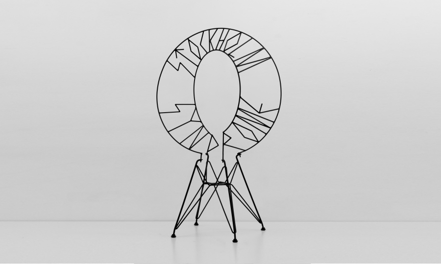 LELLO//ARNELL: <em>Stockholm Syndrome </em>| 2012 | Varnished steel and chair-base <br/>Private collection, Brussels