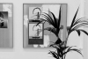 LELLO//ARNELL: Apophenia (Black) | Detail | Lacobel, oak, Valchromat | 120cm x 90 cm